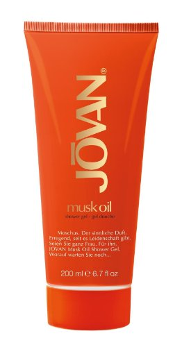 Jovan musk oil pflegendes Shower Gel mit dem geheimen Duft des Moschuss, 1er Pack (1 x 200 ml)