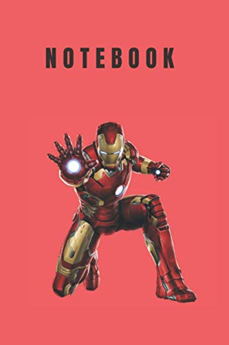Iron Man notebook: Marvel notebook (Ruled 120pages) Notebook for kids, students