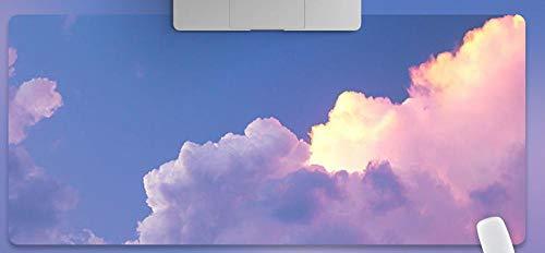 JIACHOZI 900 × 400 × 3 mm Azul cielo colorido nubes Alfombrilla de Ratón Grande Alfombrilla de Ratón Grande, Alfombrillas Gaming Raton Ordenador XXL Mouse Pad, Almohadilla de Escritorio Grandes Alfomb