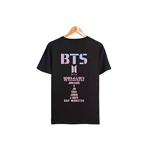 Camiseta Unisex KPOP BTS Bangtan Fans Manga Corta Blusa Suga Jin Jimin Jung Kook...