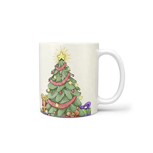 Generic Branded Tazas de café de cerámica lisa importante Modern – Tazas aptas para Lounge White 330 ml