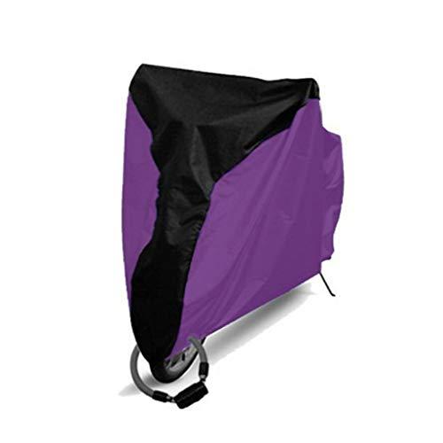 WILLQ Motorrad abdeckplane wasserdicht Außenschutz, Schutz vor Staub, Schmutz, Regen und Wetter,Motorradabdeckung wasserdicht im Freien,Edge Purple,L