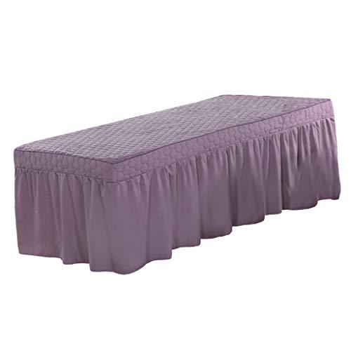 Baoblaze de de Masaje Facial Solon SPA Bed Cenefa Sábana Fit 73x28 Bed - Púrpura, Individual