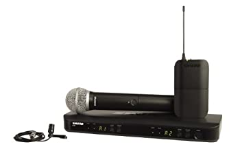 Shure BLX1288/CVL Dual Channel Wireless Microphone System with PG58 Handheld and CVL Lavalier Mics  Discontinued by Manufacturer