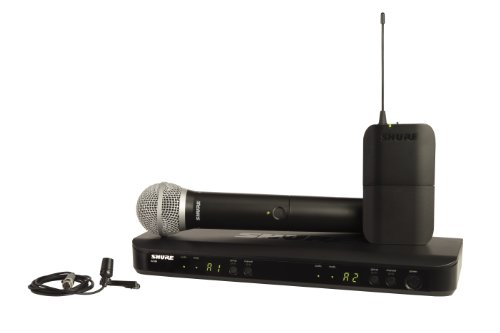 Shure BLX1288/CVL Dual Channel Wireless Microphone System with PG58 Handheld and CVL Lavalier Mics