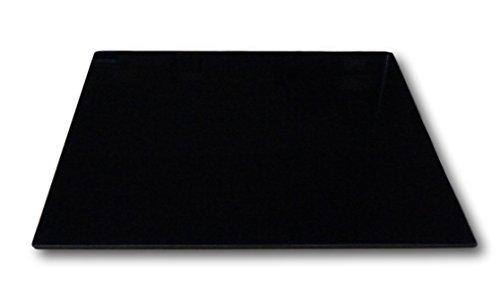 XL Glas Herdabdeckplatte Herdabdeckung Schneidebrett Abdeckplatte für Ceranfeld Design schwarz Kochfeld Abdeckung Spritzschutz Herdblende