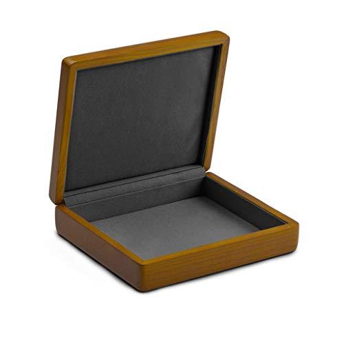 ZRL Joyero organizador de madera de alta calidad, organizador de joyas, pendientes, anillos, pulseras, caja de almacenamiento mediana (color: F)