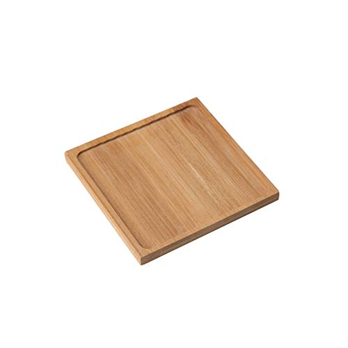 Hong Yi Fei-Shop Decorative Vase Bamboo Flower Pot Tray Garden Outdoor Courtyard Indoor Office Small Potted Plant Tea Saucer Small Flower Pot Tray Drainage Tray Small Vase (Size : A)