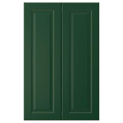 BODBYN 2-p dörr f hörnskåp set 25 x 80 cm mörkgrön