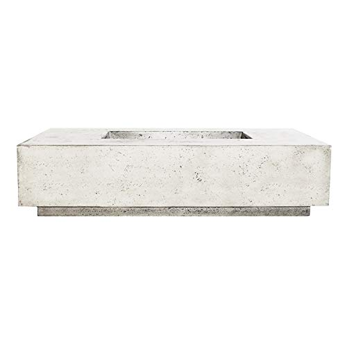 Great Features Of Prism Hardscapes Tavola 4 Electronic Ignition Concrete Gas Fire Pit (PH-408-5LP-WB...