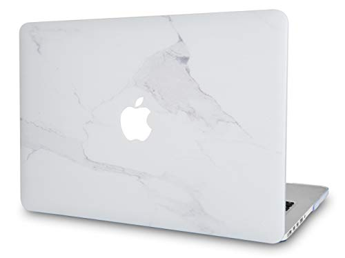 LuvCase Laptop Case for MacBook Pro 16 Touch Bar (2021/2020/2019 Release) A2141 Rubberized Plastic Hard Shell Cover (Atlantic Marble)