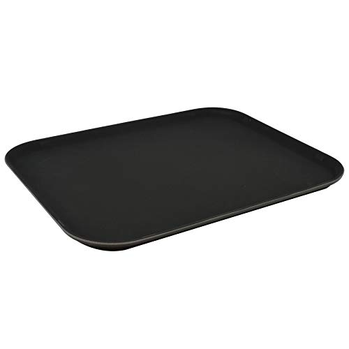 Argon Tableware Non Slip Black Serving Tray for Food and Drinks - 35x45cm (14x18')