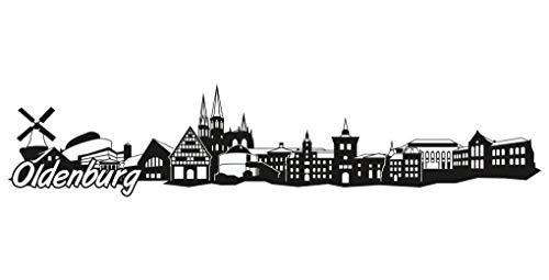 Samunshi® Oldenburg Skyline Aufkleber Sticker Autoaufkleber City Gedruckt in 7 Größen (15x3,2cm schwarz)