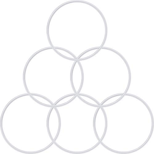 6 Pieces Rubber Gasket Replacement Seal White...