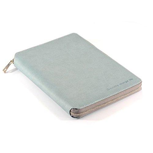 FITYLE Leer Notizbuch, Travel Journal Notebook Tagebuch Reisetagebuch mit Reißverschluss, A6 - Grau