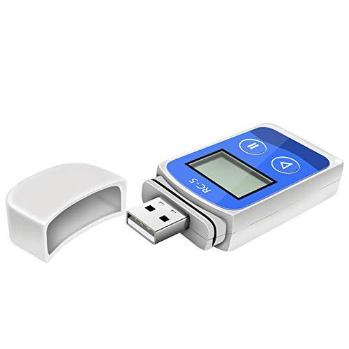 USB-Temperatur-Datenlogger, Therm La Modus Temperatur-Rekorder 32000 Punkte hohe Genauigkeit Industrie Temperaturdetektor LCD Bildschirm Fenster Mac Software
