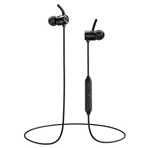 RCA Bluetooth Headphones, Bluetooth WirelessEarbuds with Magnetic Attraction, 10 Hours Playtime, IPX5 Waterproof Sports Earphones for Running Exercise Gym