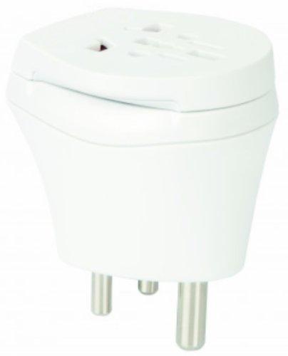 2 x Reiseadapter - Welt Kombi Reisestecker Stromadapter - Adapter für Äquatorialguinea auf Hong Kong für Steckdosen mit Schukostecker, Euro, 2 pol und 3 polige Strom Netz Stecker - EK-HK