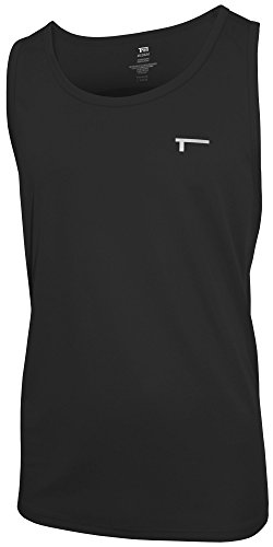 TREN Herren COOL Ultra Lightweight Tank Top Funktionsshirt Schwarz 001 - L