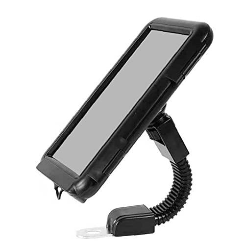 Soporte de Montaje del teléfono de la Motocicleta Pantalla táctil Bolsa de Soporte Impermeable para el teléfono Inteligente 6.8 Pulgadas Negro
