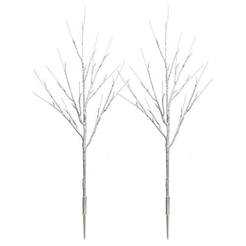 Philip 30u0022 Christmas LED Birch Twig Stakes - Warm White