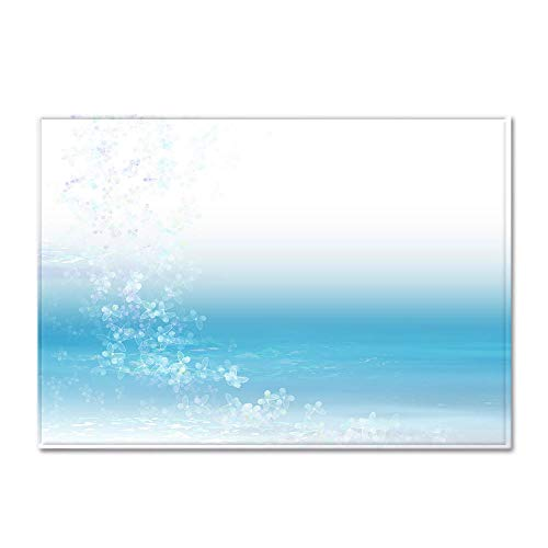 HJKGSX Alfombra Moderna de Pelo Corto Impresión en Azul y Blanco Alfombra De Salón Antideslizante Salón Dormitorio Fácil...