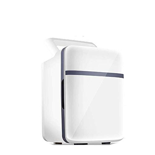 Mini Refrigerador Eléctrico 12V / 240V para Automóvil Y Hogar Refrigerador Portátil De 10L Refrigerador De Automóvil Frío Y Cálido con para Viajar Y Acampar A ++, Refrigerador