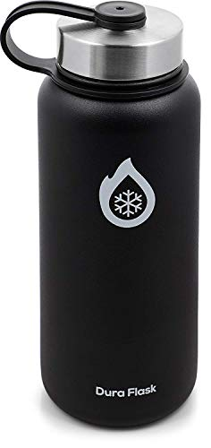DuraFlask Explorer Double-Wall Vacuum Insulated Water Bottle (32oz) w/ 3 Thermal Optimizing Layers - Copper Dipped & 18/8 Stainless Steel Water Bottle Keeps Drinks & Food at Ideal Temperature Longer…