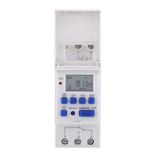 Ahc15a Industrial Electronic Timerschakelaar, 1-delig LCD-display wekelijks programmeerbare elektronische relais-tijdschakelaar 16 on 16 off timer voor lampen, ventilatoren en motoren 110V