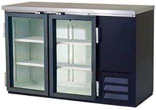 Back Bar Bottle Coolers, Refridgerant, 2 Glass Doors with 4 Shelves, 14.5 Cubic Feet