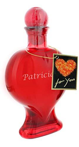 Herz-Flasche Sweet Cherry mit Gravur - das süße Wein-Geschenk zum Muttertag