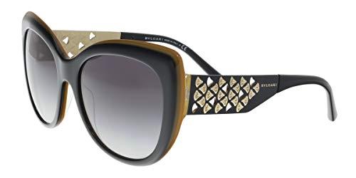 Bulgari 0Bv8198B 54408G 57 Gafas de sol, Negro (Black/Grey), Mujer