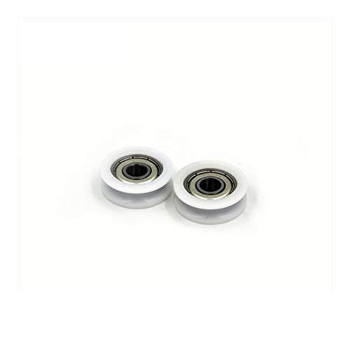 LUANAYUN-PHONE CASE Rodamiento de bolas flexible y duradero 608 ZZ cubierto con plástico POM 8 x 30 x 10 mm (2 unidades) de polea de plástico 608 Z 2Z