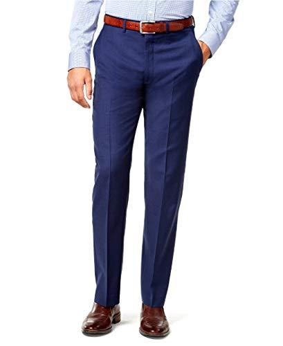Ryan Seacrest Mens Solid Modern Fit Dress Pants Slacks, Blue, 38W x 34L