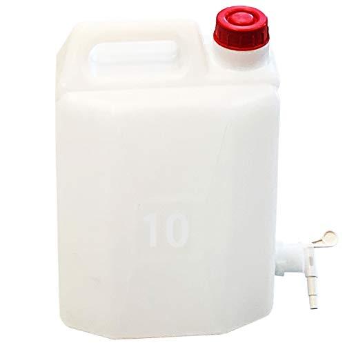 Tanque Agua de 10 litros con Grifo 37 x 24 x 16 cm, bidón, garrafa, Jarra, dispensador de Agua, Bebidas. Recipiente, contenedor Uso alimentario