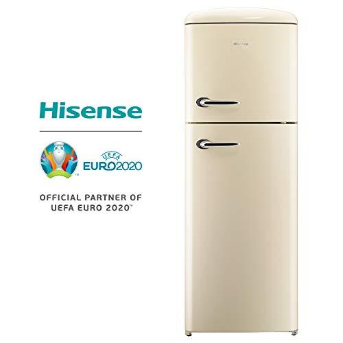 Frigorífico dos puertas - HISENSE RT382D4AY2, 39 dB, Capacidad de 294 l, Eficiencia A++, Crema