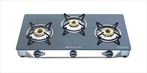 Bajaj CGX3, 3-Burner Stainless Steel Glass, ISI...