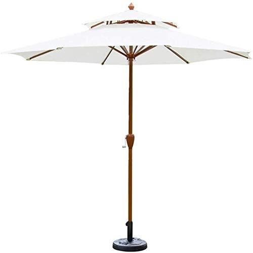 Housewares Sun Parasol Umbrella Garden Parasoles con base de paraguas 9ft / 2.7m Paraguas de jardín con mango de manivela, protección solar a prueba de agua para terraza, balcón, patio, piscina, prote