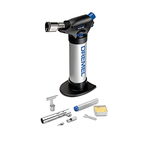 Dremel 2200-01 Versa Flame Multi-Function Butane Torch Perfect for Wood Burning, Leather Crafting, Stencil Cutting, Cordless Soldering, Hot-Knife Cutting of Foam, Plastics and Rope