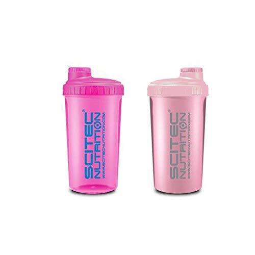 Scitec Nutrition - 2 x Shaker 700ml (2er Pack) - Neon Pink & Rosa