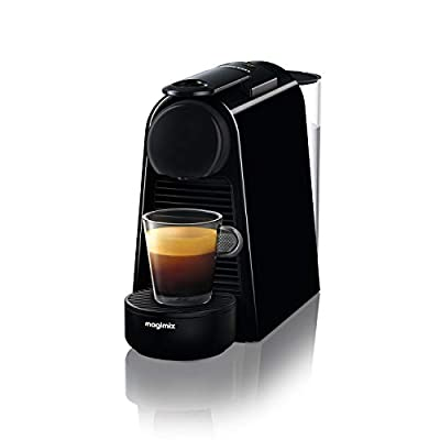 Nespresso Essenza Mini Coffee Machine, Pure Black Finish by Magimix
