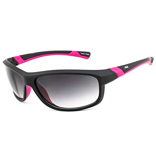 Fila SF-231-BLK Gafas, MATT BLACK-PINK/GREY, 69/16/130 Unisex Adulto