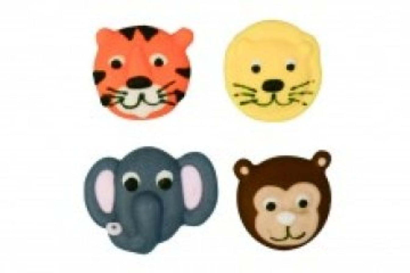 Jungle Animals Sugar Cake Decorations - Pack of 12