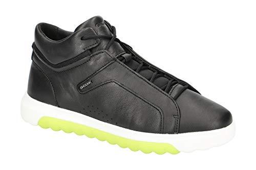 Geox Damen High-Top Sneaker NEXSIDE, Frauen Sneaker,Sportschuh,Sneaker-Stiefelette,mid-Cut,atmungsaktiv,SCHWARZ,41 EU / 7.5 UK