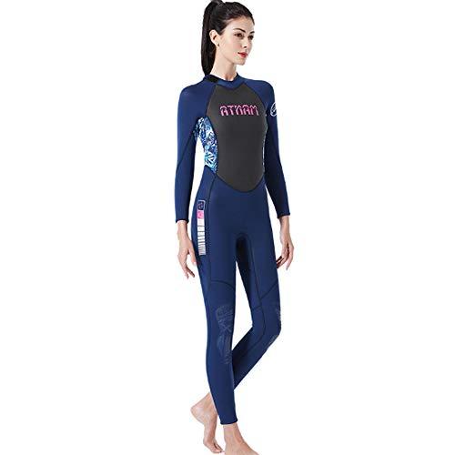 HBRT 3mm Damen Neoprenanzug Neopren Surf Tauchanzug zum Surfen Kajakfahren Schwimmen Speerfischen Schnorcheln Urlaubsreisen,L