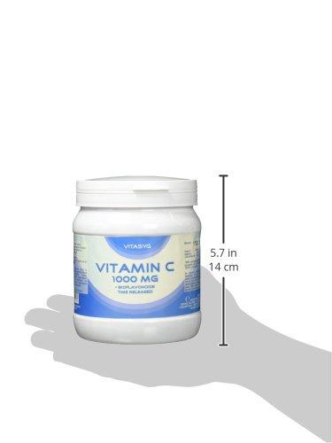 Vitasyg Vitamin C 1000 mg plus Bioflavonoide, für Immunsystem, Haut, Zähne und Knorpel – 500 Tabletten, 1er Pack (1 x 650 g) - 4