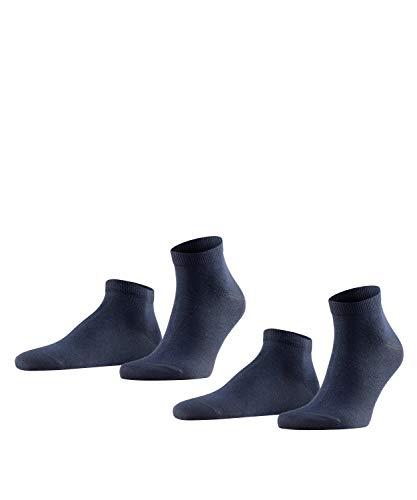 FALKE Herren Sneakersocken Happy - 85{33d89680b2405ec2beabfc77bcff75940848d640b29ca06fa069f0a0b1d96255} Baumwolle, 2 Paar, Blau (Dark Navy 6375), Größe: 39-42