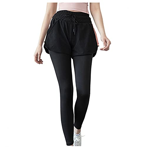 Vexiangni Leggings opacos para mujer, leggins deportivos con bolsillos para deporte y uso diario, para yoga, deporte, fitness, tiempo libre, elásticos, dos piezas, Rosa E., XL
