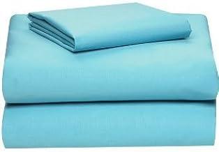 (Twin XL, Aqua Blue) - Twin Extra Long Micro Fibre Sheet Set - Soft and Comfy - By Crescent Bedding Aqua Blue Twin XL
