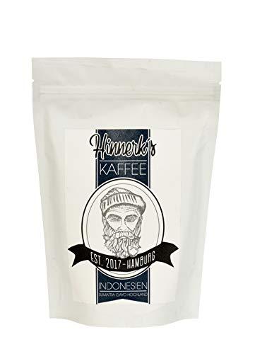 Hinnerk`s Kaffee Indonesien - 250 Gramm - schonend geröstet - Sortenrein - 100 % Arabica - ganze Bohne Kaffeebohnen